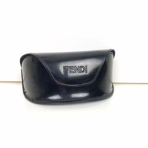 Fendi black velcro closure hard sunglass case